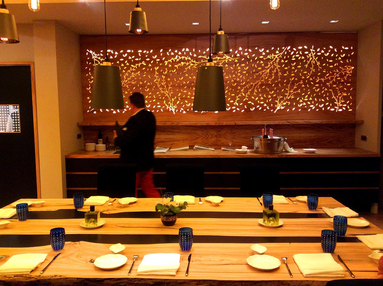 La luce nel ristorante Q b